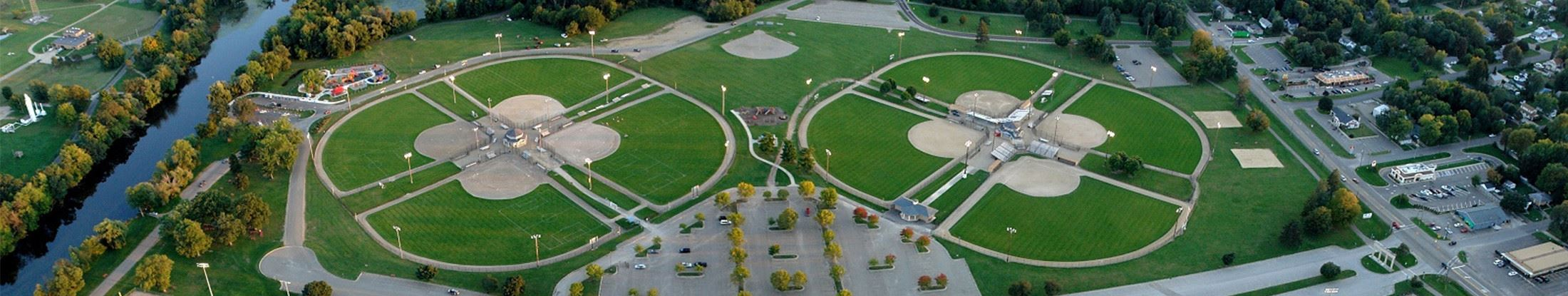 Aerial view of Bailey Park